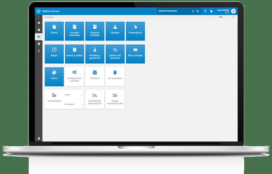 Ordenador portátil con captura de pantalla de A3Asesor